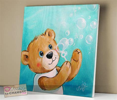 tableau ourson chambre bébé tableau ourson dco nounours pour chambre enfant vente