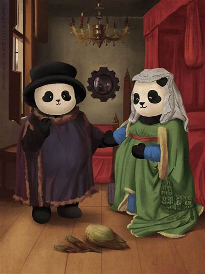 Eyck Pandas Peinture Dans Arnolfini Jan Artiste