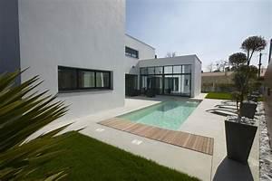 Plan maison contemporaine toit plat recherche google for Photo maison toit plat