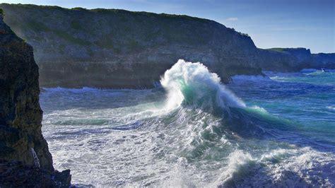 full hd wallpaper wave foam storm giant denmark desktop