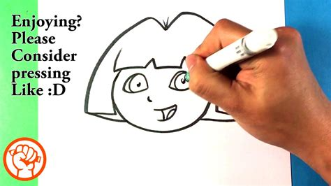 How To Draw Dora The Explorer Nickelodeon Drawing Step
