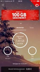 Vodafone Online Rechnung Einsehen : mein vodafone app datenvolumen verbrauch internet handy ~ Themetempest.com Abrechnung