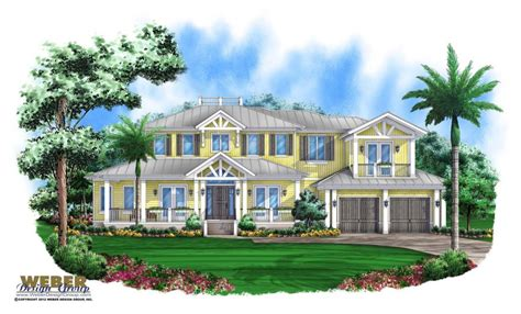 coastal house plan  florida style key west home floor plan