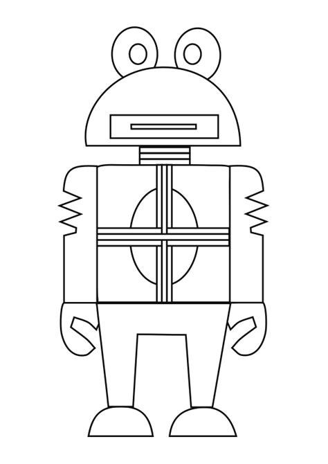 Dibujo del robot RV 06FG25 para colorear