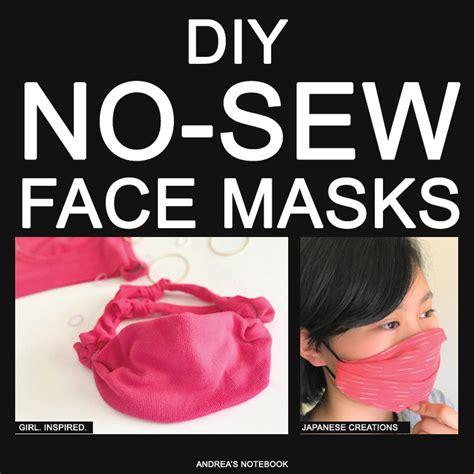 diy  sew face mask tutorials andreas notebook