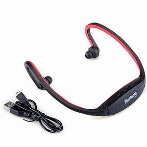 Wireless Bluetooth Red Sport Stereo Headset Earphone ...
