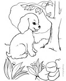Free Printable Coloring Pages of Dogs Puppies