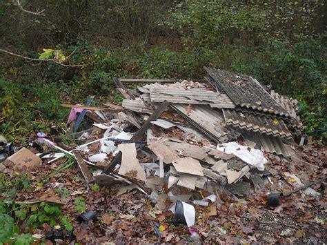 unlicensed disposal  asbestos waste  danger