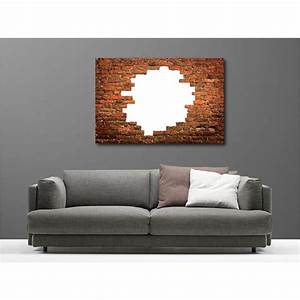 Toile De Mur : tableaux toile d co rectangle mur de pierre art d co stickers ~ Teatrodelosmanantiales.com Idées de Décoration