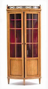 Vitrine En Bois : vitrine en encoignure d 39 epoque biedermeier placage de bois ~ Teatrodelosmanantiales.com Idées de Décoration