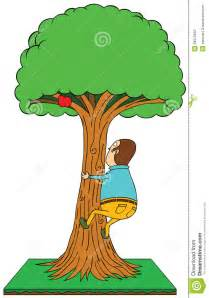 Cartoon Person Climbing Tree