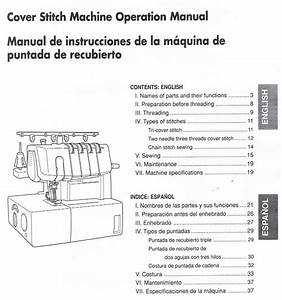 Brother 2340cv Cover Stitch Serger Overlock Users Guide