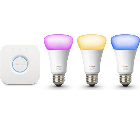 philips hue light bulbs buy philips hue colour wireless bulbs starter kit e27