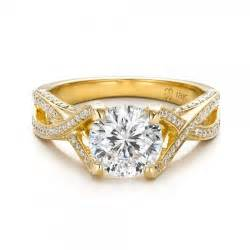 solitaire yellow gold engagement rings custom jewelry engagement rings bellevue seattle joseph jewelry