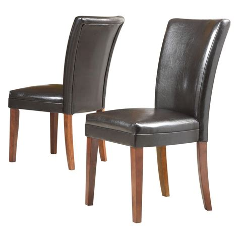 home decorators collection faux leather side chair in