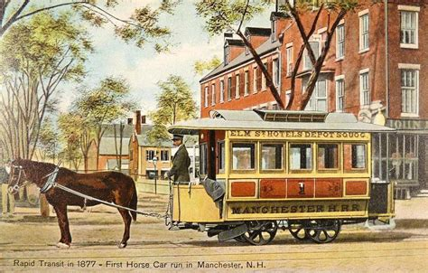 horse horsecar manchester train century nh trains tram street wikipedia 19th 1908 england drawn horses carriages cart transit cars streetcars