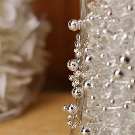silver beaded wire garland ribbon and trims craft supplies