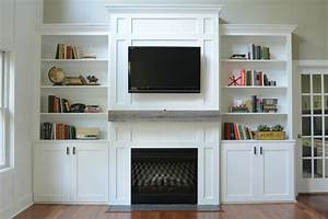 Living room built in cabinets decor and the dog for Built in cabinets living room