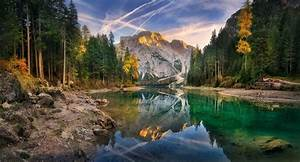 Lake, Sunset, Italy, Summer, Forest, Mountain, Water
