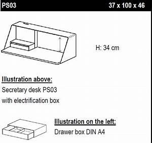 Muller Moebel PS03 Wall Hung Desk