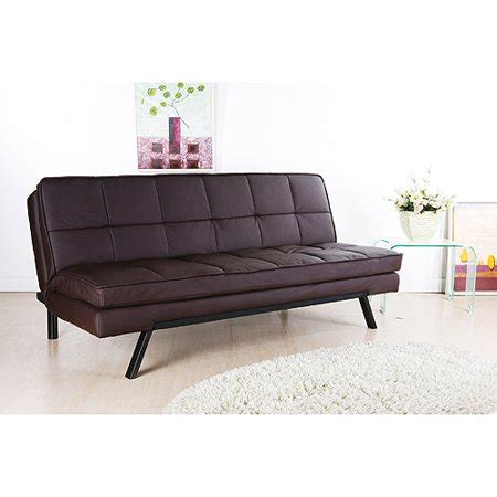 walmart faux leather futon hemingway convertible futon sofa bed brown faux