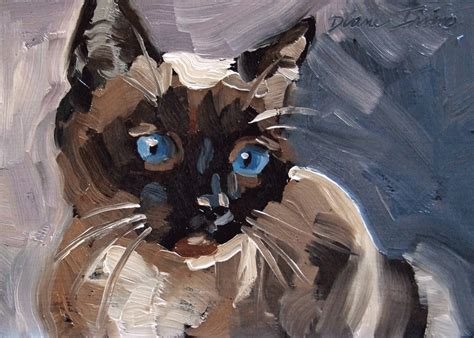 Abstract Black Cat Watercolor by Paintings From The Black Cat And Siamese Cat