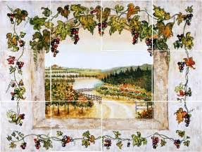kitchen backsplash sles grape and vine