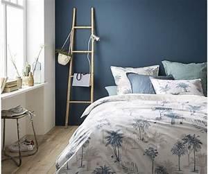 Dco Salon Mur Bleu Chambre La Redoute Peindre Le Bon
