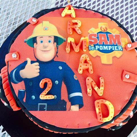 deco gateau sam le pompier g 226 teau sam le pompier cake design p 226 te 224 sucre les d 233 lices de