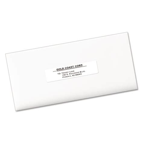 Avery 5261 Template by Avery 5261 Easy Peel Laser Address Labels 1 X 4 White