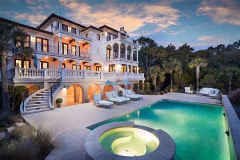 magnificent ocean front kiawah mansion  pam