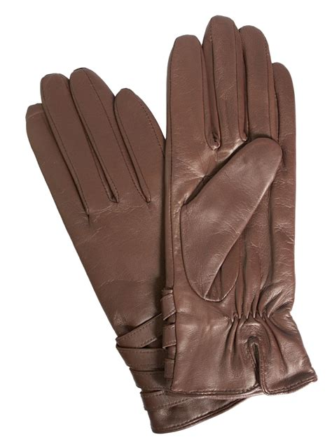 Dents Womens Leather Gloves, multistrap cuff (size 6.5 ...