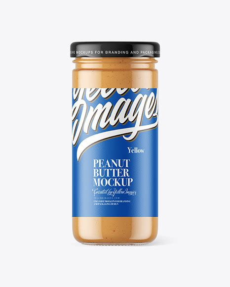 License type what are these? Clear Glass Jar with Peanut Butter Mockup in Jar Mockups ...