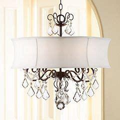 zula white shade  wide crystal chandelier www