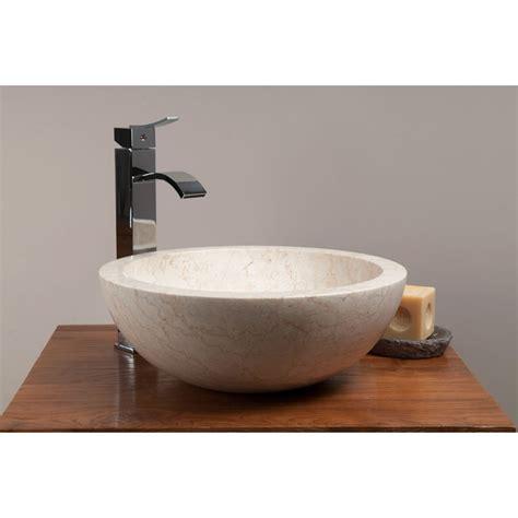vasque ronde en marbre de java 224 poser pour meuble en teck