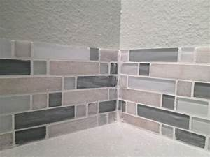 Diy kitchen backsplash part 5 grouting backsplash tiles for How to do backsplash corners