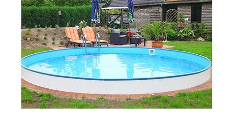 Runder Pool Im Garten by Rundpool Stahlwandpool Rund Pool Poolsana Garten