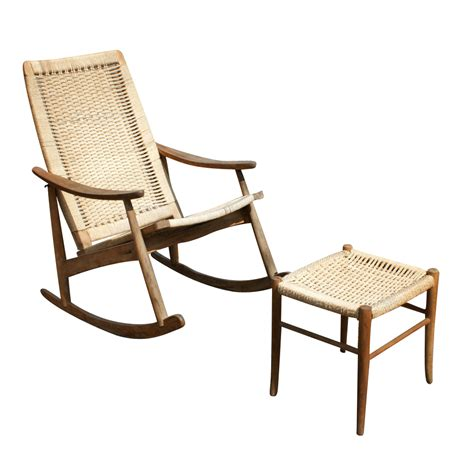 vintage rocking lounge chair and ottoman set ebay