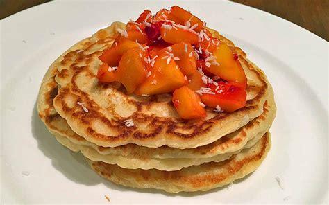 cuisine pancake coconut mango pancake recipe pikalily food
