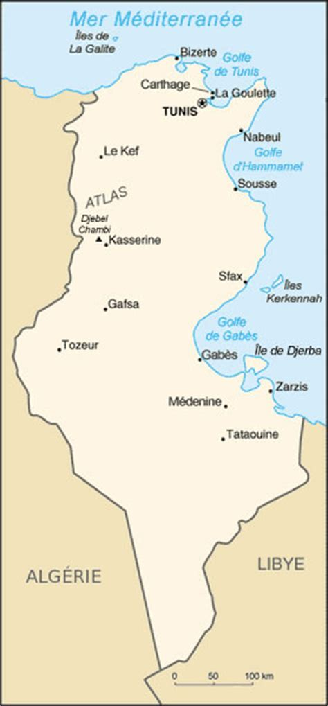 Carte De Tunisie Avec Villes by Carte Tunisie Vierge Noms Villes Carte Vierge De La