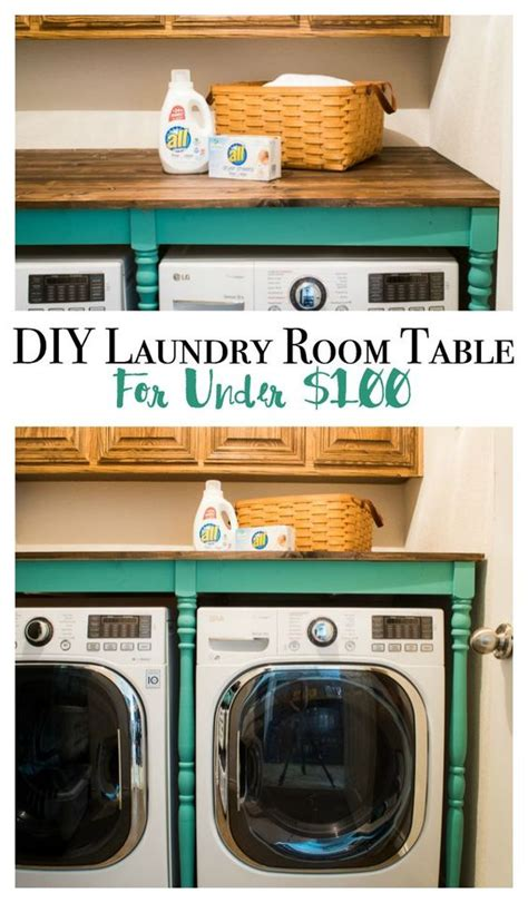 laundry room table with storage diy an oversized table for the laundry room for under 100