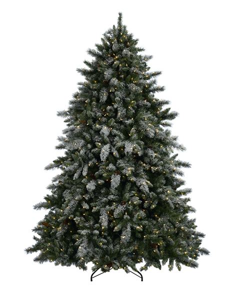 aspen spruce artificial flocked christmas tree tree classics