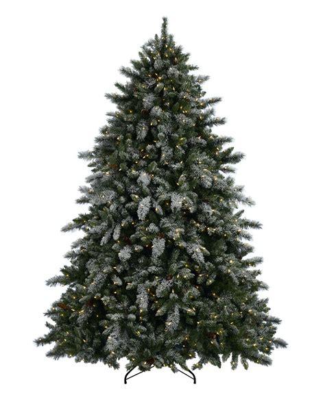 pre lit artificial christmas trees best deals cyber monday aspen spruce artificial flocked tree tree classics