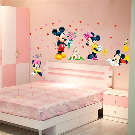 mickey minnie mouse baby home decals wall stickers