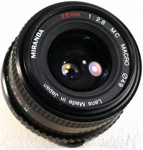 The Miranda 28 Mm F   2 8 Mc Macro Lens  Specs  Mtf Charts