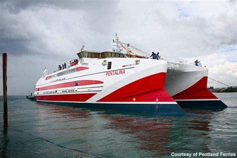 Catamaran Ferry In Rough Seas by Pentalina Catamaran Ferry Ship Technology