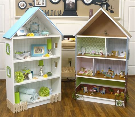 dollhouse bookcase  style    billy hack ikea