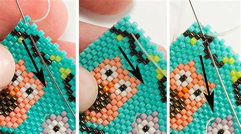 weaving  beading thread  peyote stitch