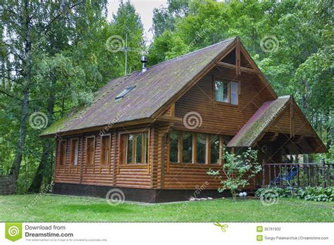 country wooden house stock photo image  chalet