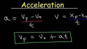 Acceleration Formule 1 : acceleration physics velocity one dimensional motion equations formulas examples and ~ Medecine-chirurgie-esthetiques.com Avis de Voitures